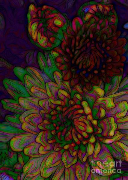 Photograph - Chrysanthemums Cool Beans Effect by Rose Santuci-Sofranko