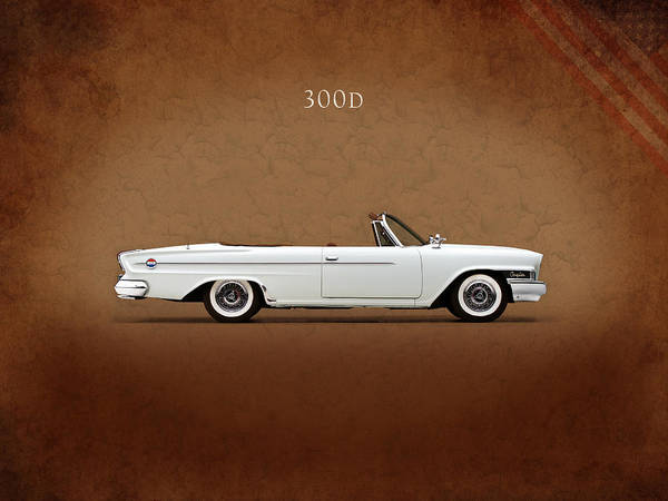 American Car Photograph - Chrysler 300d 1962 by Mark Rogan