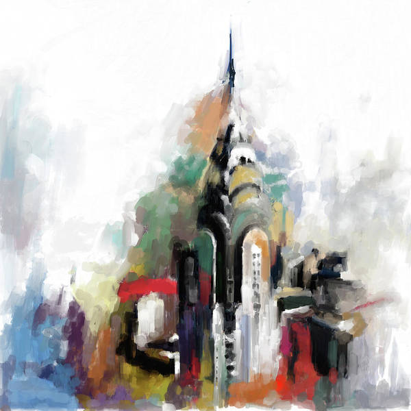Chinatown Painting - Chrysler 564 1 by Mawra Tahreem