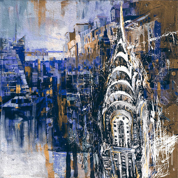 Wall Art - Painting - Chrysler Building 205 4  by Mawra Tahreem