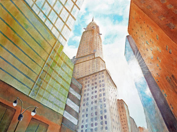 Grand Central Painting - Chrysler Building by Ken Figurski