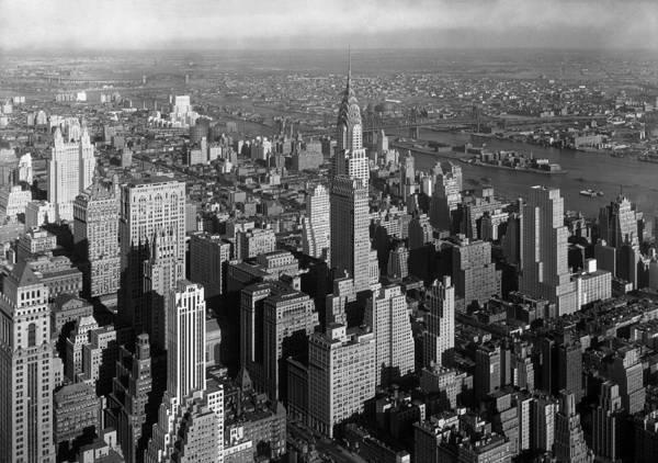 Wall Art - Photograph - Chrysler Building - Manhattan Skyline - 1932 by War Is Hell Store