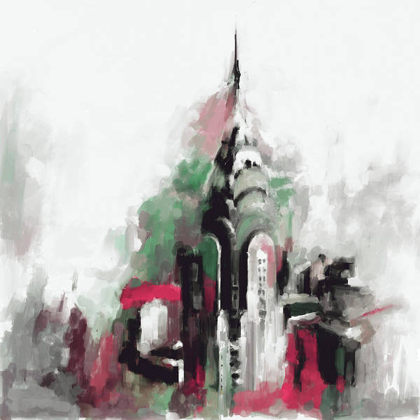 Chinatown Painting - Chrysler Building Ny 564 2 by Mawra Tahreem
