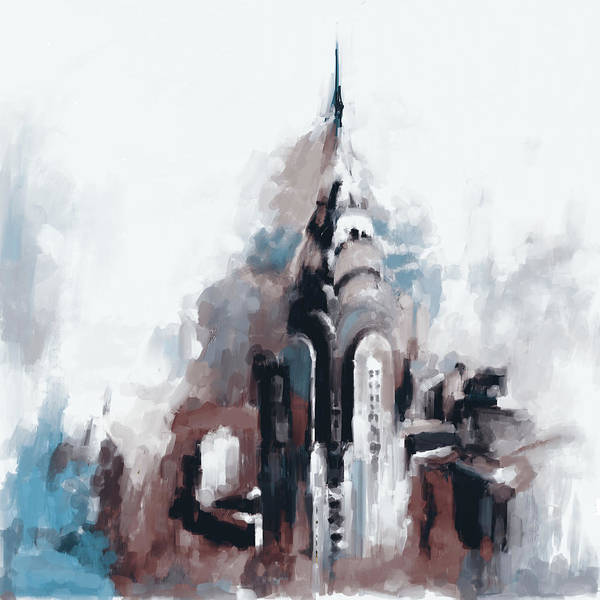 Chinatown Painting - Chrysler Building Ny 564 3 by Mawra Tahreem