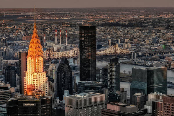 Photograph - Chrysler Building Nyc Sunset by Susan Candelario