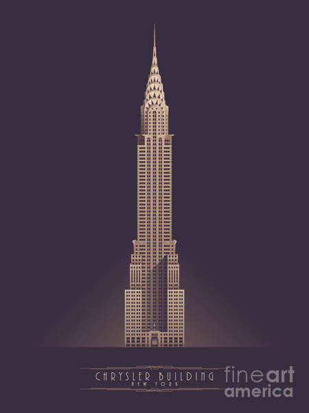 Spring Wall Art - Digital Art - Chrysler Building - Vintage Dark by Ivan Krpan