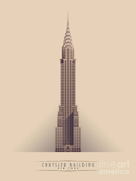 Buildings Digital Art - Chrysler Building - Vintage Light by Ivan Krpan