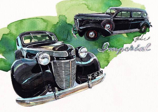 Imperial Painting - Chrysler Imperial by Yoshiharu Miyakawa