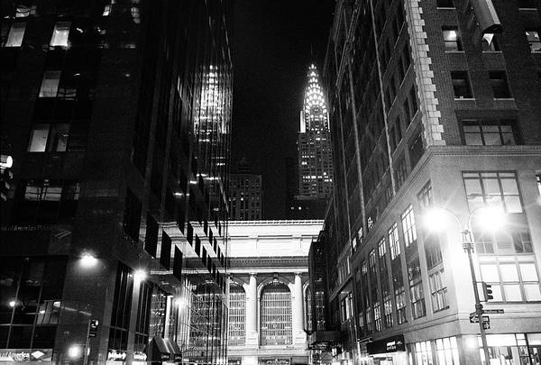 Photograph - Chrysler Night Library by Dave Beckerman