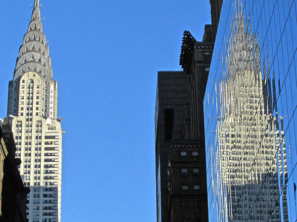 Photograph - Chrysler Reflections by Steven Lapkin