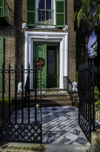 Photograph - Wreath On Green Door by Dale Powell