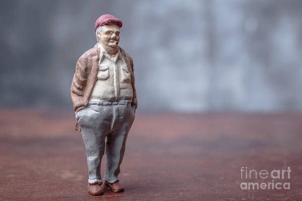 Cigar Photograph - Chubby Man Smoking A Cigar by Edward Fielding