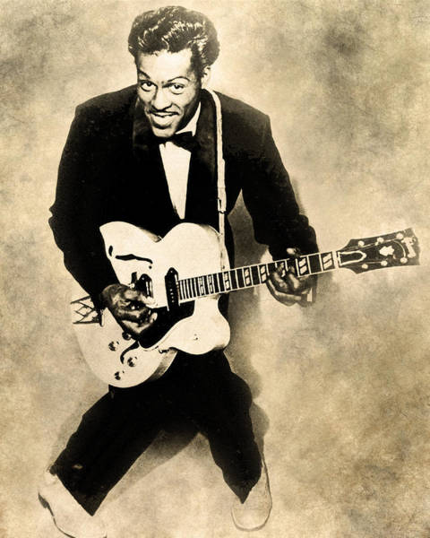 Digital Art - Chuck Berry by Anthony Murphy