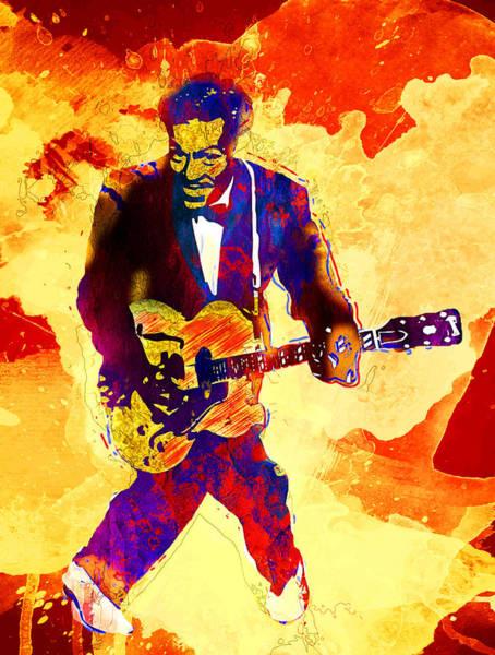 Wall Art - Digital Art - Chuck Berry by Elena Kosvincheva