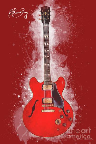 Chuck Berry Guitar Art Print