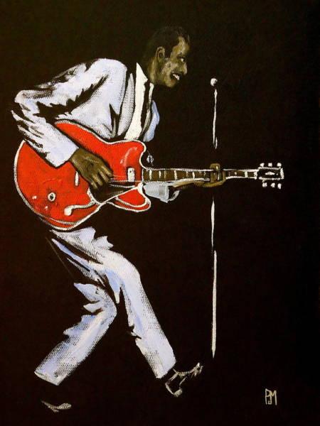 Chuck Berry Art Print by Pete Maier