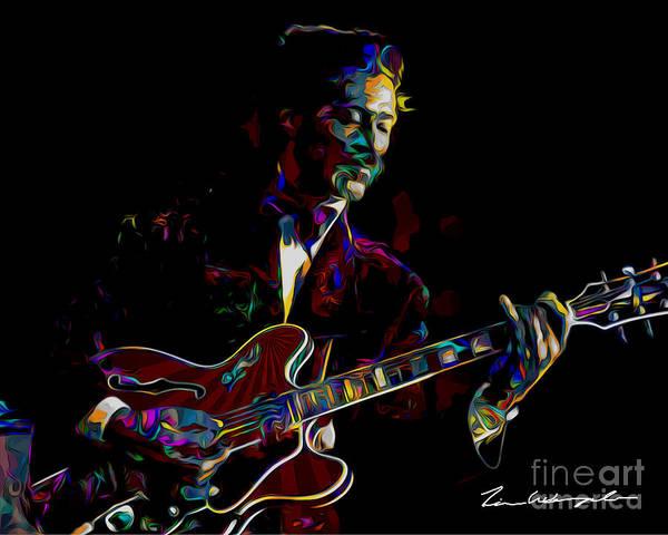 Digital Art - Chuck Berry by Tim Wemple