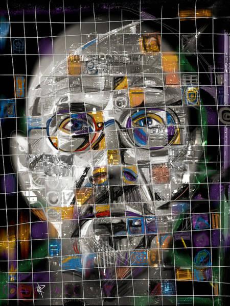 Wall Art - Mixed Media - Chuck Close by Russell Pierce