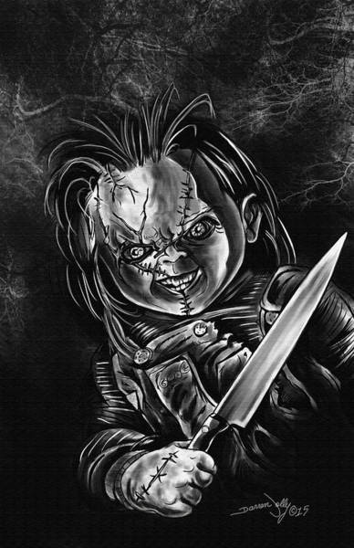 Chucky Wall Art - Painting - Chucky by Darren Jolly