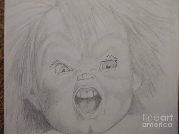 Chucky Wall Art - Drawing - Chucky by John Prestipino