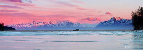 Photograph - Chugach Twilight by Ed Boudreau