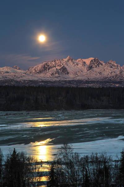 Photograph - Chulitna Moon by Ed Boudreau