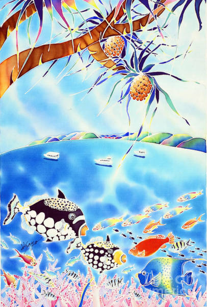 Painting - Churaumi Paradise by Hisayo Ohta