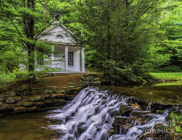 Photograph - Church And Falls by Nick Zelinsky