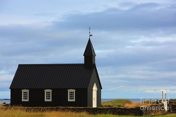 Famous Cemeteries Photograph - Church At Budir - Iceland by Henk Meijer Photography