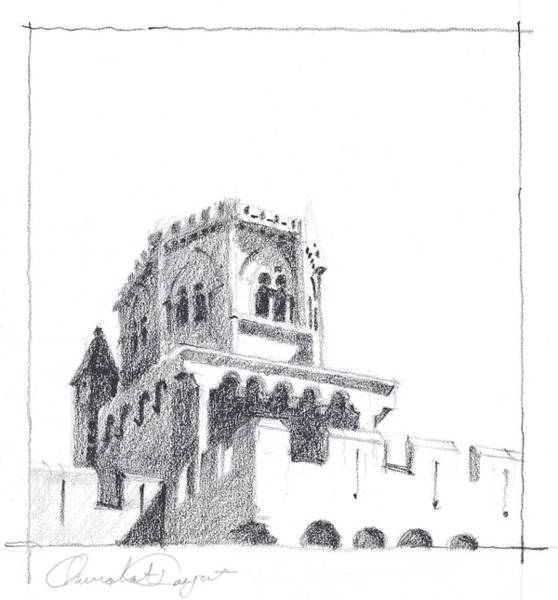 Drawing - Church At Chamalieres by James Faecke