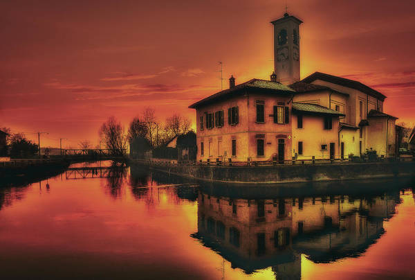 Photograph - Church At Dusk by Roberto Pagani