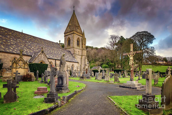 Cemetaries Wall Art - Photograph - Church At Pantasaph by Adrian Evans