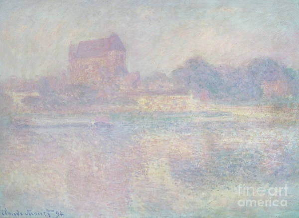 Subtle Painting - Church At Vernon  In The Fog by Claude Monet