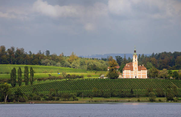 Photograph - Church Birnau Lake Constance In Great Landscape by Matthias Hauser