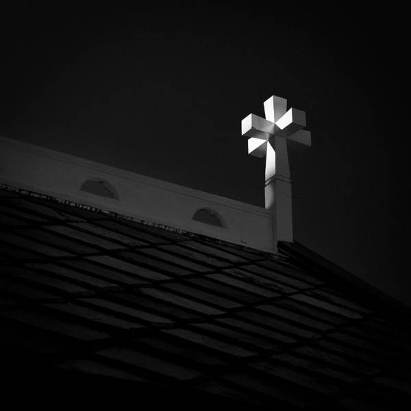 Wooden Church Wall Art - Photograph - Church Cross by Dave Bowman