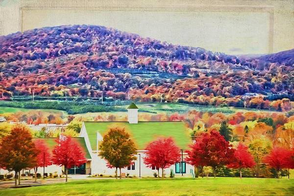 Photograph - Church Fall Colors by Alice Gipson