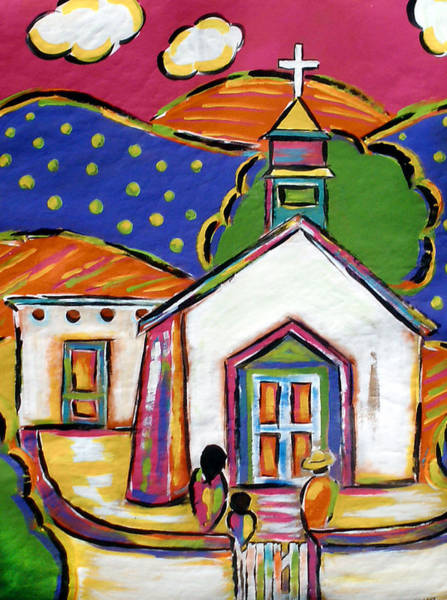 Painting - Church In Blanco by Jan Oliver-Schultz