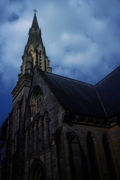 Gloomy Wall Art - Photograph - Church In Bournemouth - Uk by Cambion Art