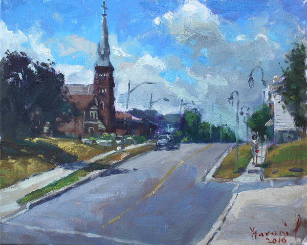 Downtown Wall Art - Painting - Church In Georgetown Downtown  by Ylli Haruni