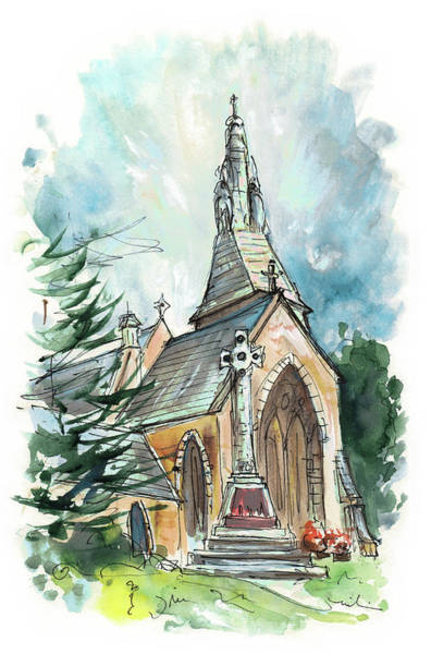 Wall Art - Painting - Church In Great Ayton by Miki De Goodaboom