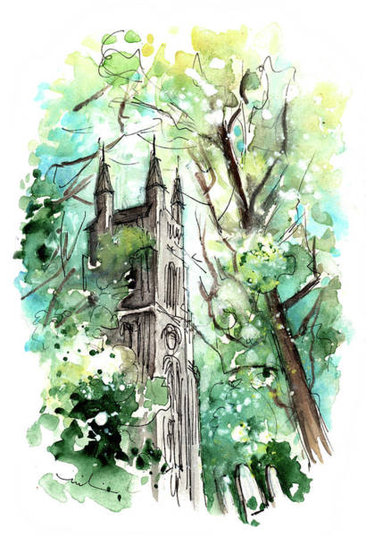 Painting - Church In Helmsley 01 by Miki De Goodaboom