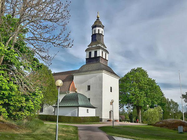 Photograph - Church In Nykil by Thomas M Pikolin