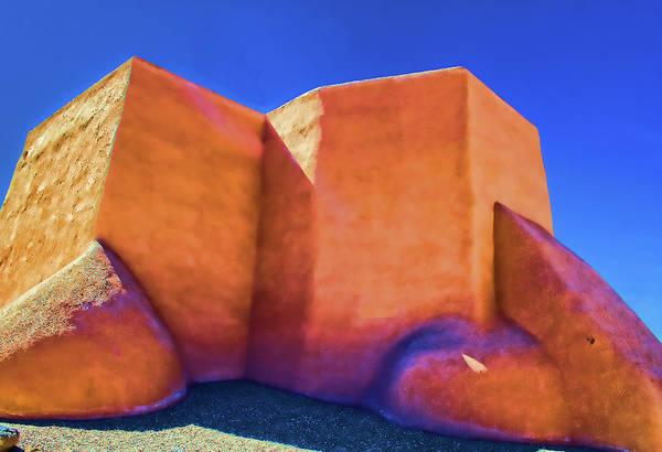 Digital Art - church in Ranchos by Charles Muhle
