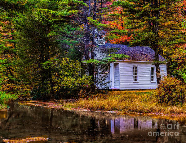 Photograph - Church In The Woods At Hickory Run State Park by Nick Zelinsky