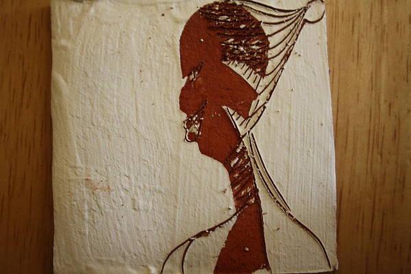 Ceramic Art - Church Lady 10 -tile by Gloria Ssali