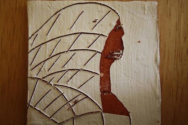 Ceramic Art - Church Lady 2 - Tile by Gloria Ssali