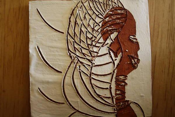 Ceramic Art - Church Lady 4 - Tile by Gloria Ssali