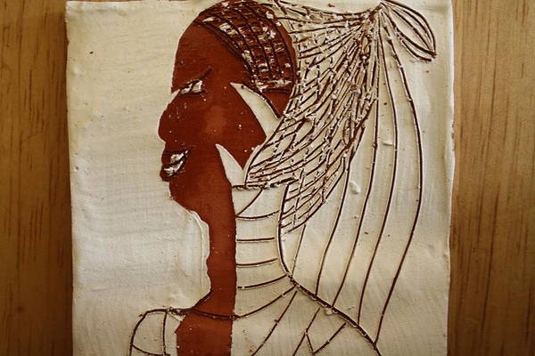 Ceramic Art - Church Lady 5 - Tile by Gloria Ssali