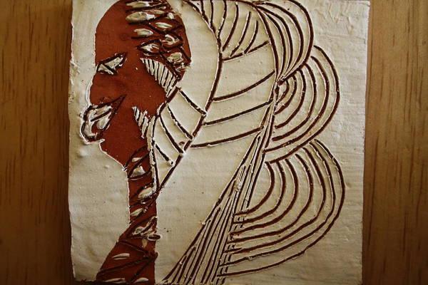 Ceramic Art - Church Lady 6 - Tile by Gloria Ssali