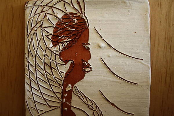 Ceramic Art - Church Lady 7 - Tile by Gloria Ssali